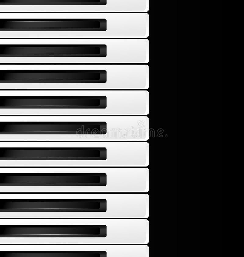 czarny i biały klucze ilustracja wektor
