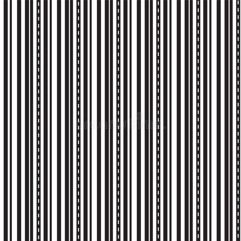 Czarny i biały linia prosta z kropki linii tłem ilustracji