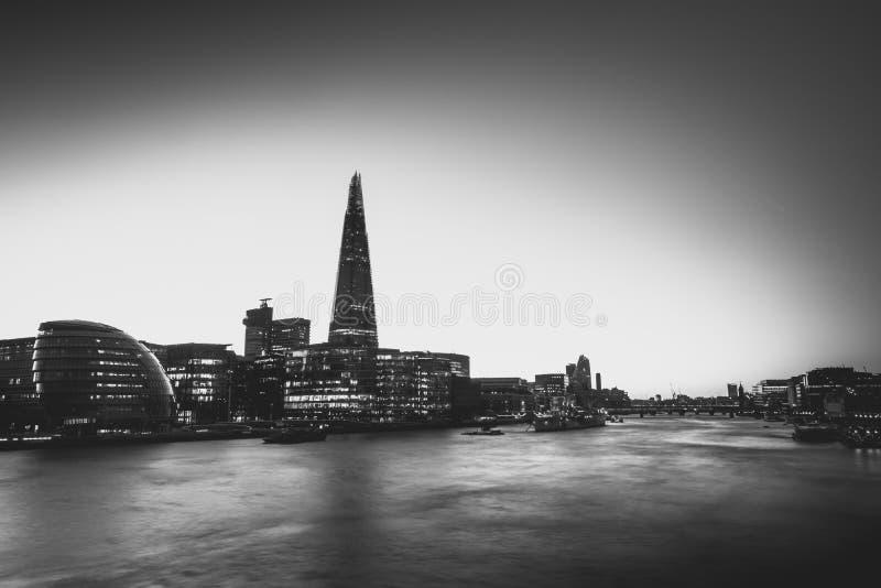 Czarny i biały London zdjęcie stock