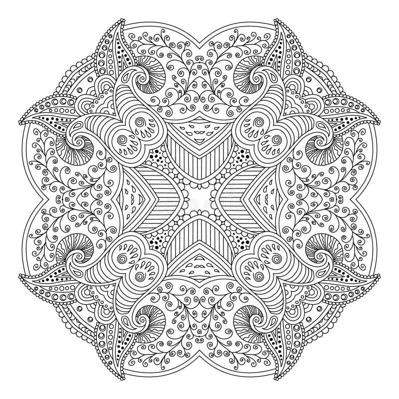 Czarny i biały mandala ilustracji