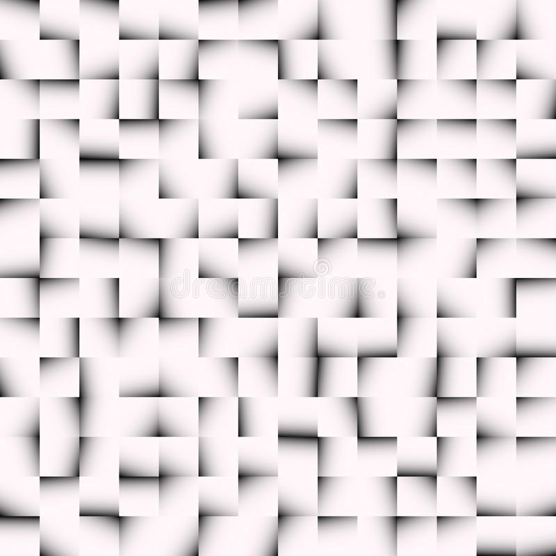 Czarny i biały mozaiki tekstura, mozaika wzór Płynnie repea ilustracja wektor