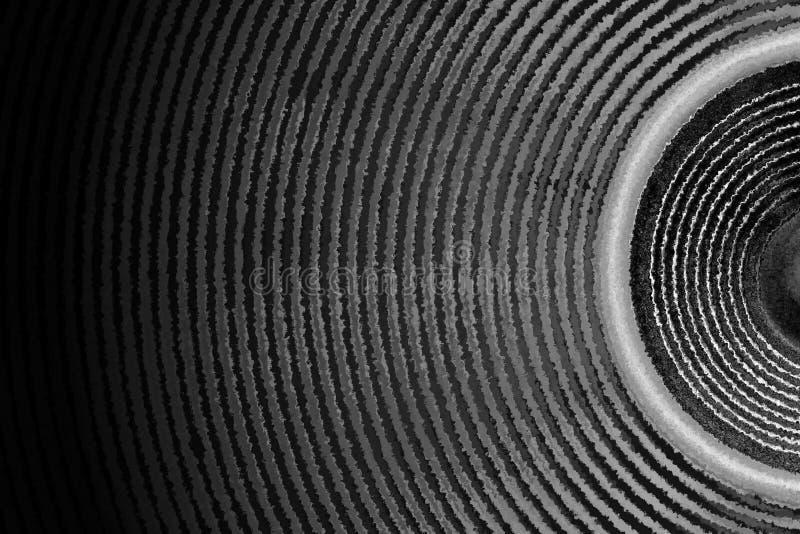 Czarny i biały muzyczne głośnikowe rozsądne fala zdjęcia stock