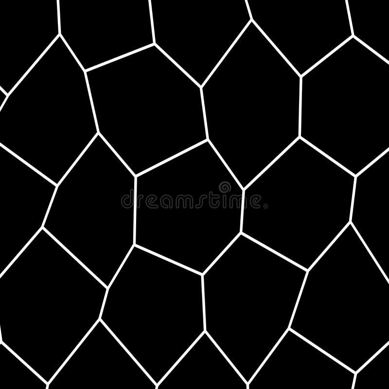Czarny I Biały Nieregularny mozaika szablon royalty ilustracja