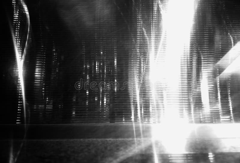 Czarny i biały nocy przyszłościowego miasta uliczny abstrakcjonistyczny tło ilustracja wektor