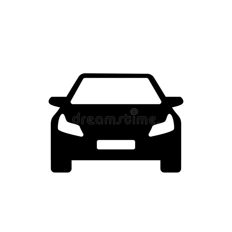 Czarny i biały nowożytny samochodowy prosty logo royalty ilustracja