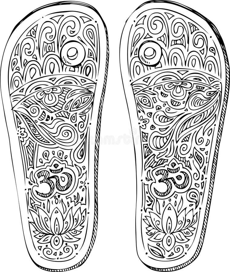 Czarny i biały padukas ilustracji