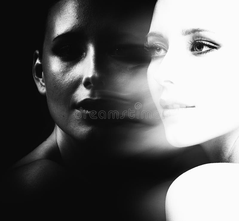 Czarny i biały piękno fotografia royalty free