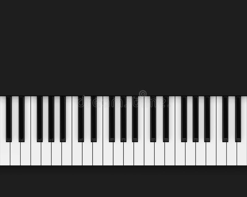 Czarny i biały pianino klucze ilustracja wektor