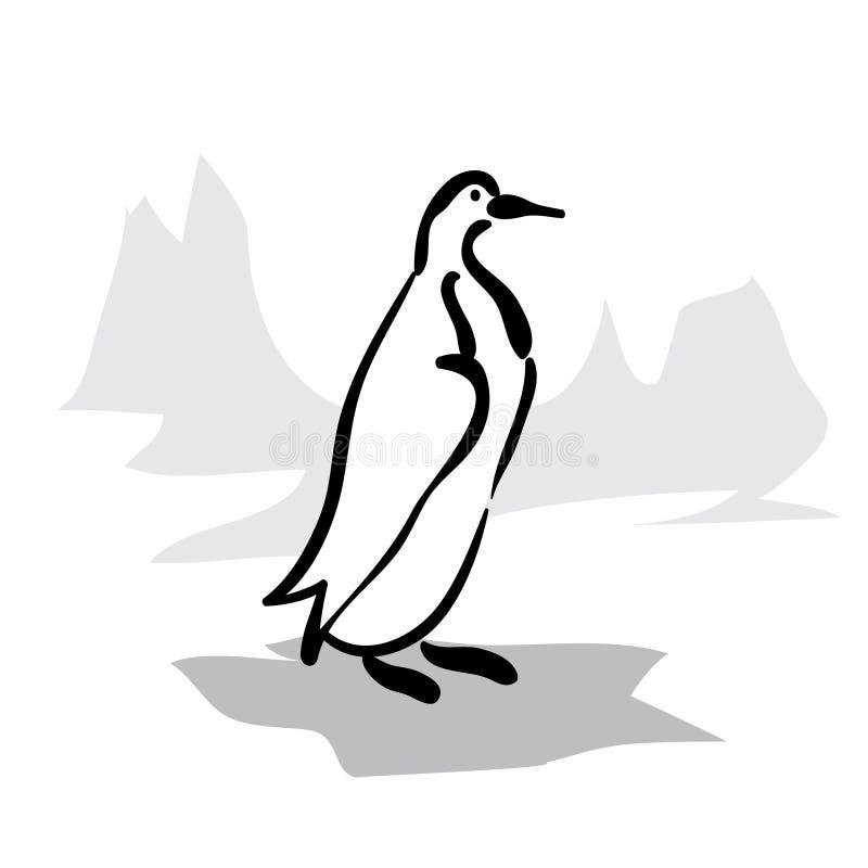 Czarny i biały pingwin royalty ilustracja