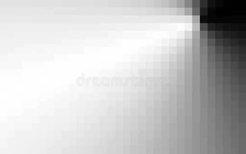 Czarny i biały pixelatied tło Pixelation ilustracji
