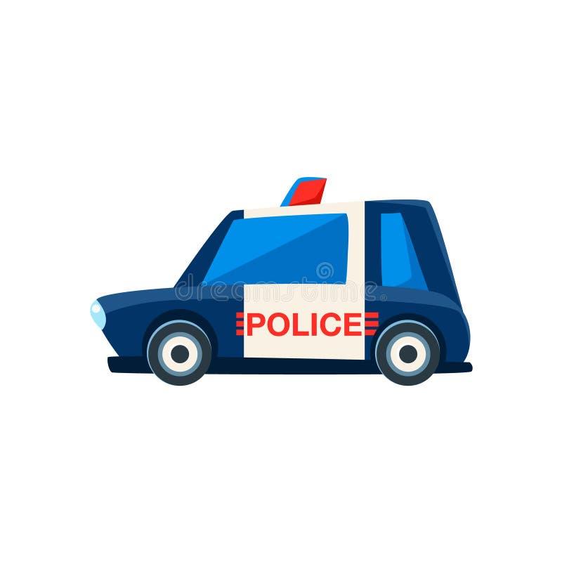 Czarny I Biały polici zabawki Śliczna Samochodowa ikona royalty ilustracja