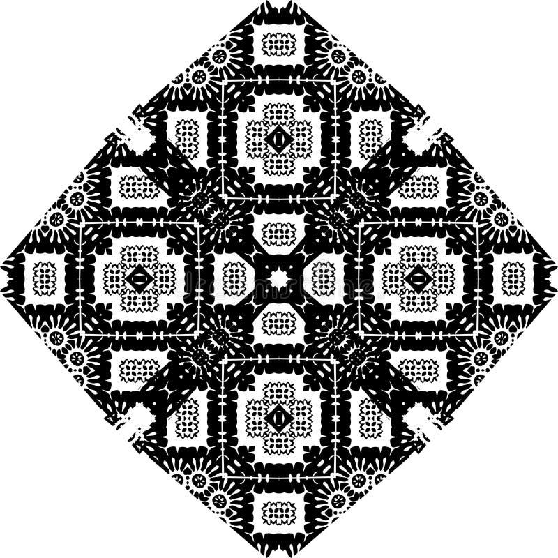 Czarny i biały prostego gwiazdowego kształta geometryczny bezszwowy wzór, wektorowego Czarny i biały prostego gwiazdowego kształt royalty ilustracja