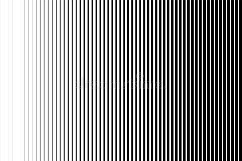Czarny i biały prosty wzór Lekki skutek Gradientowy tło z linią Halftone projekt ilustracja wektor