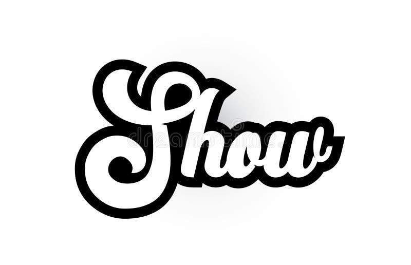 czarny i biały przedstawienie ręki pisać słowa tekst dla typografia logo ikony projekta royalty ilustracja