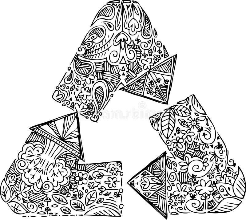 Czarny i biały przetwarza strzała ilustracji