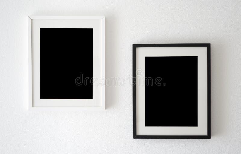Czarny i biały ramy zdjęcia royalty free