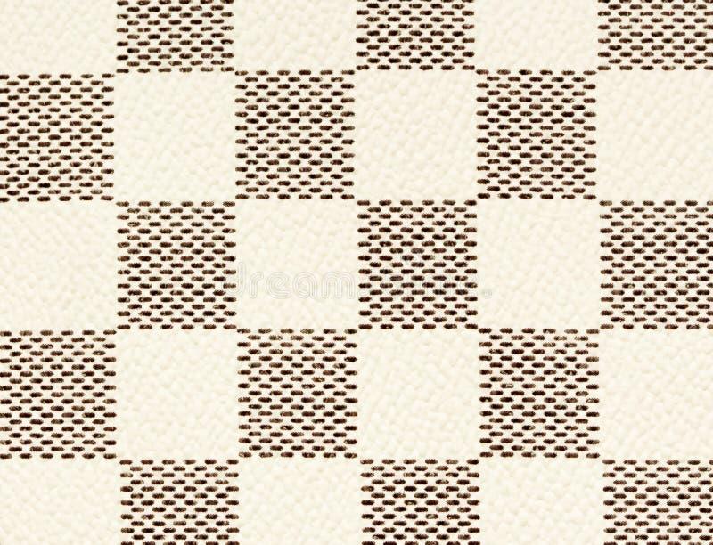 Czarny i biały rzemienny tekstury tło, checker szachowy bezszwowy wzór obrazy stock