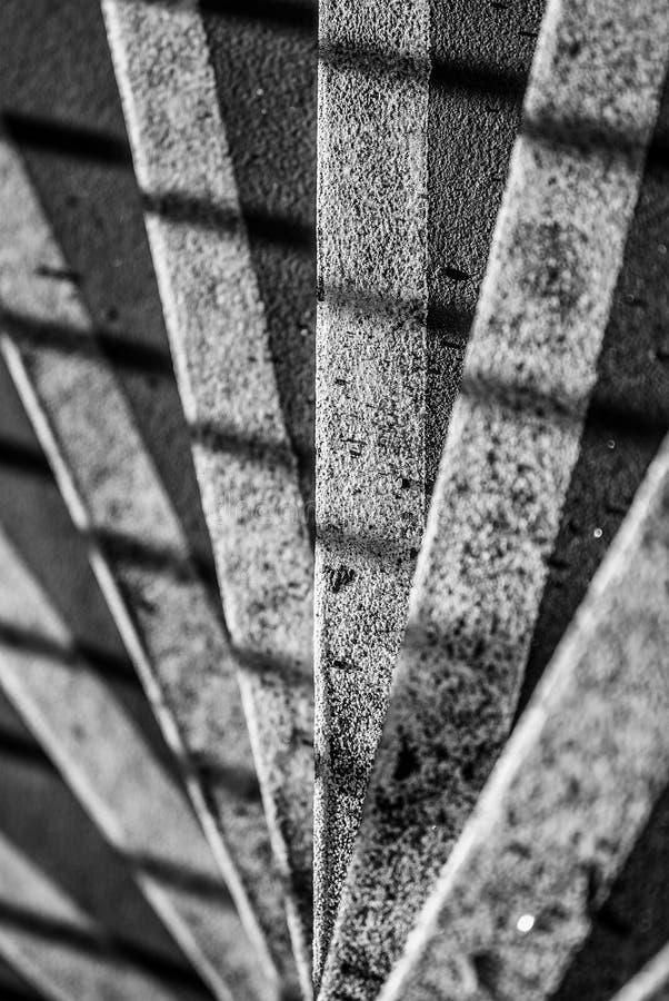 Czarny I Biały schodki zdjęcia stock