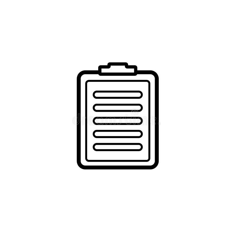 Czarny i biały schowek ikona royalty ilustracja