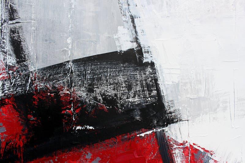 czarny i biały sztuka malująca tło ręka Czerep grafika zdjęcia stock