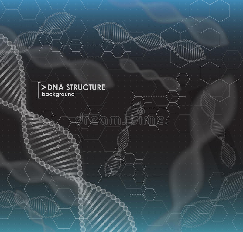 Czarny i biały tła DNA struktura ilustracji