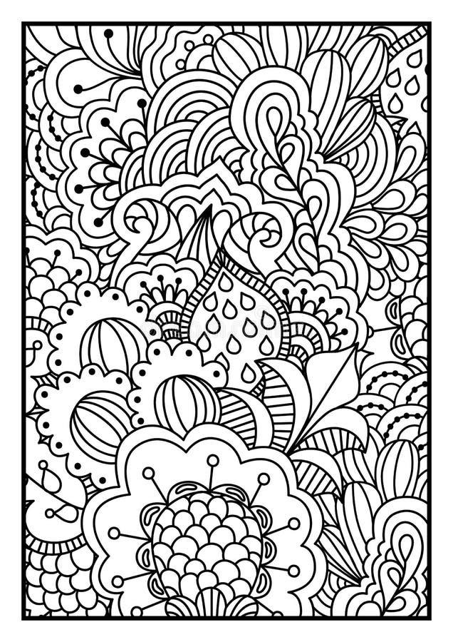 Czarny i biały tło dla kolorystyki książki ilustracja wektor