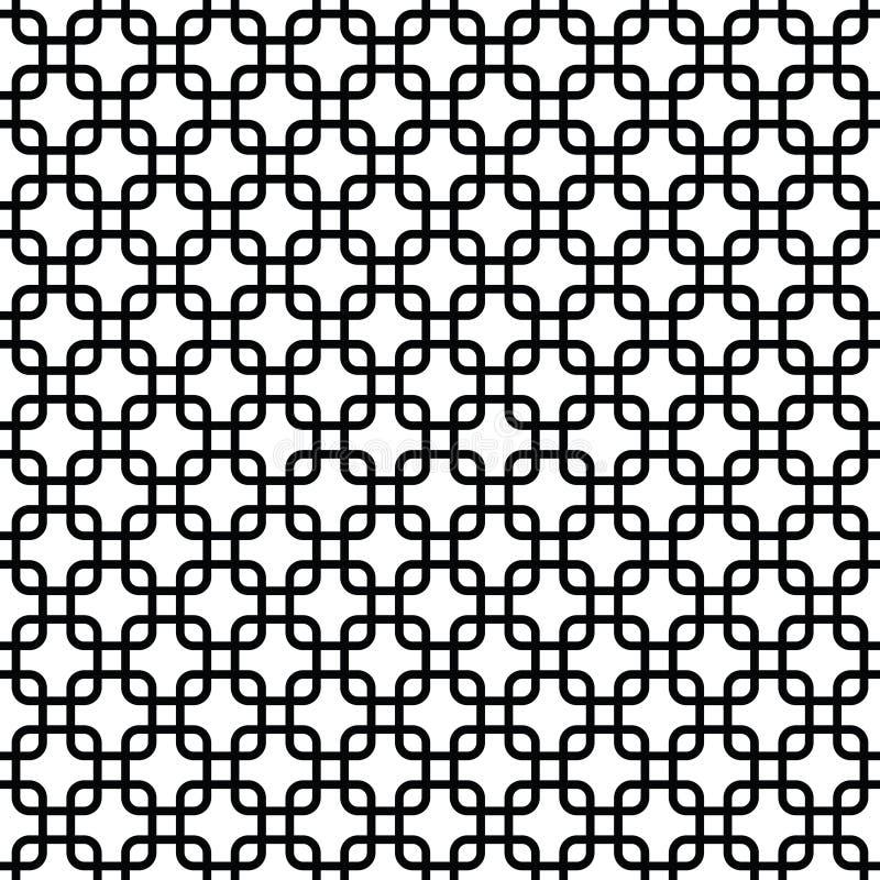Czarny i biały tło z zaokrąglonymi kwadratami royalty ilustracja
