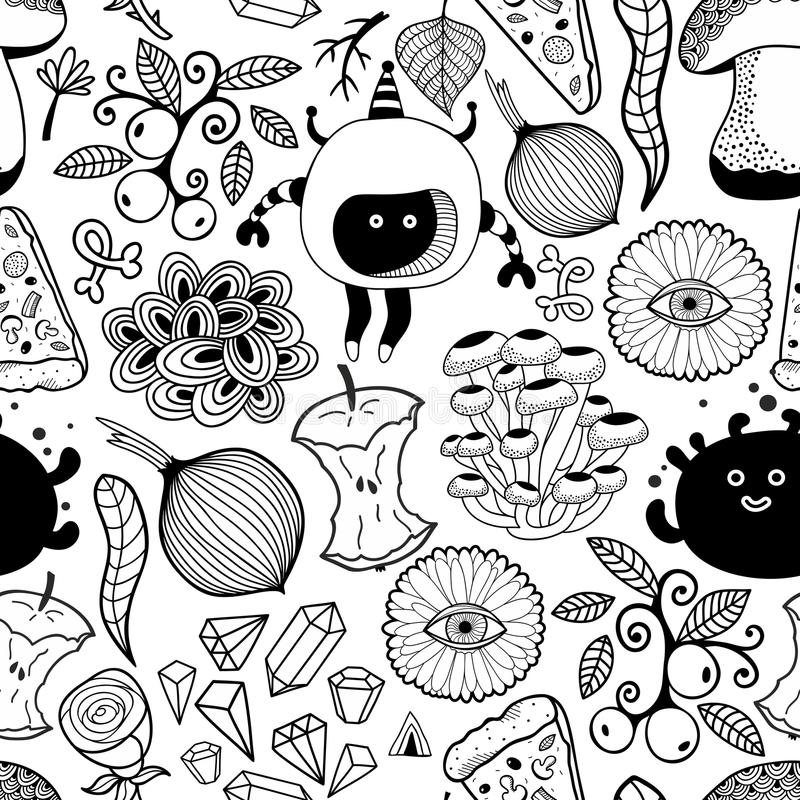 Czarny i biały tapeta dla barwić ilustracja wektor