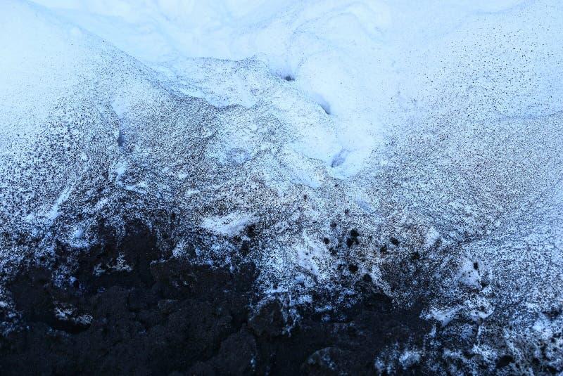 Czarny i biały tekstura popiół i śnieg obraz royalty free