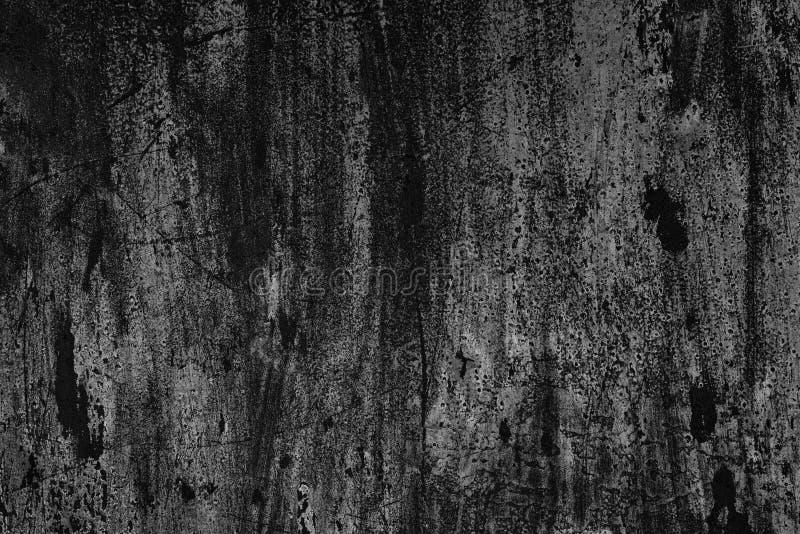 Czarny i biały tekstura stara porysowana malująca ściana zdjęcia royalty free
