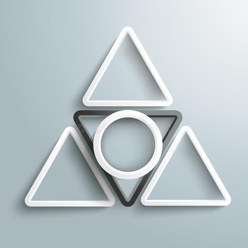 Czarny I Biały trójboka bielu pierścionek Pyramide PiAd royalty ilustracja