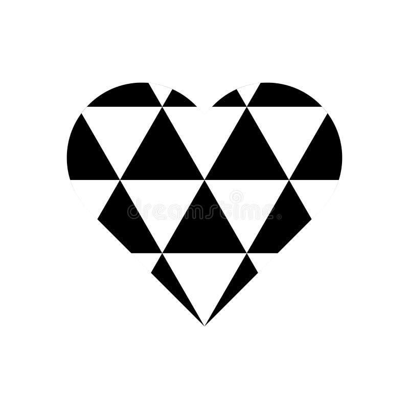 Czarny i biały trójboka wzór na kierowym symbolu royalty ilustracja