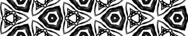 Czarny i biały tropikalna Bezszwowa Rabatowa ślimacznica g ilustracji