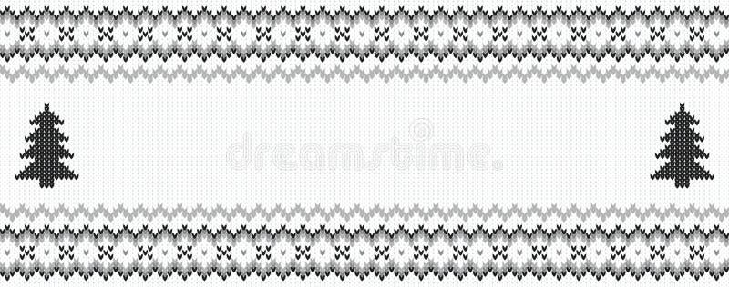 Czarny i biały trykotowy tło ilustracji