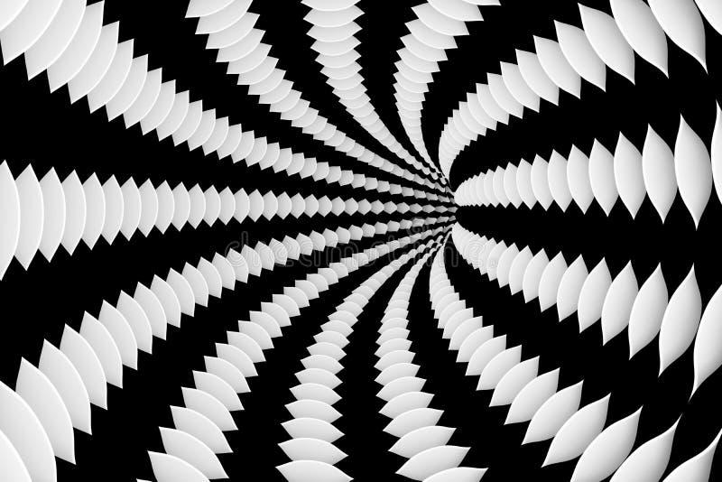 Czarny i biały tunel ilustracja wektor