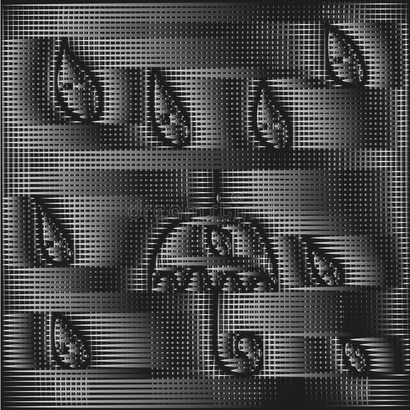 Czarny i biały w kratkę tekstura deszcz royalty ilustracja