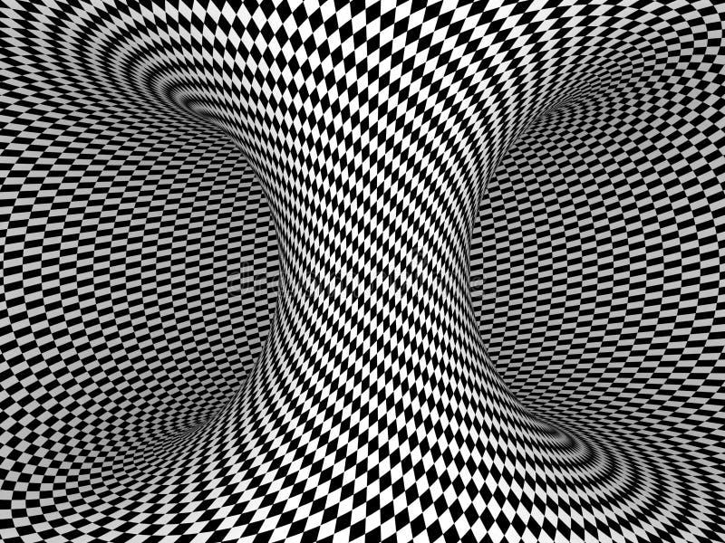 Czarny I Biały warcaby ilustracji