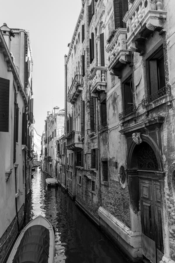 Czarny I Biały Wenecja fotografia stock