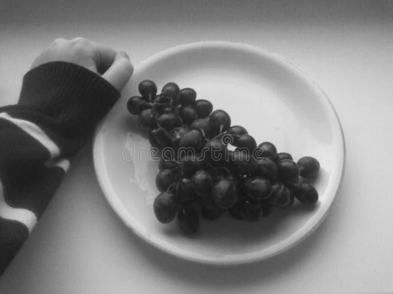 Czarny i biały winogrona zdjęcia royalty free