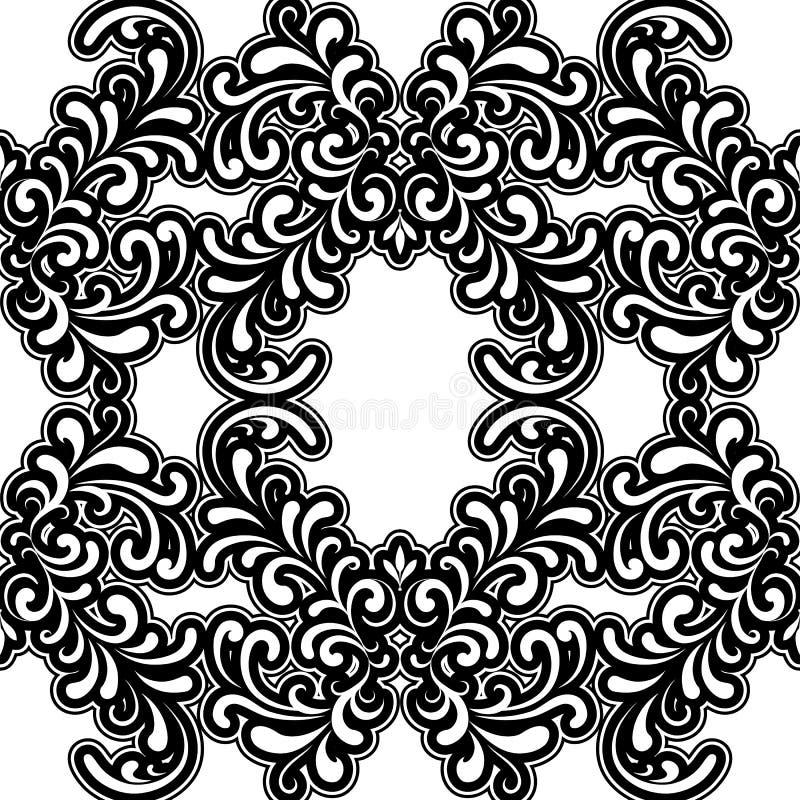 Czarny i biały wzór ilustracji
