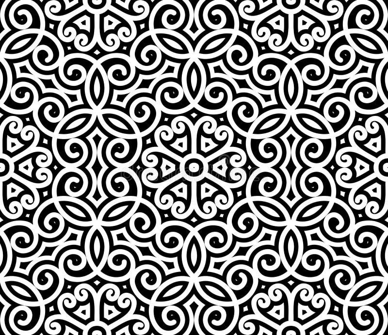 Czarny i biały wzór royalty ilustracja
