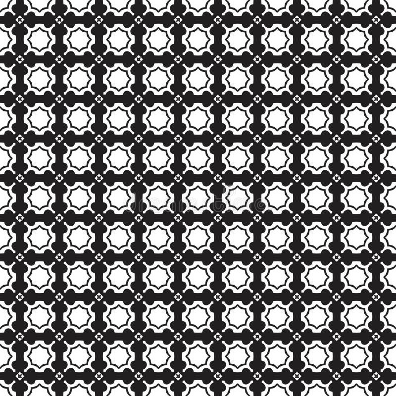 Czarny i biały wzór w minimalisty stylu Nowożytnym płaskim projekcie dla drukować na tkaninie, tkanina, opakowanie, papierowy Bez ilustracji