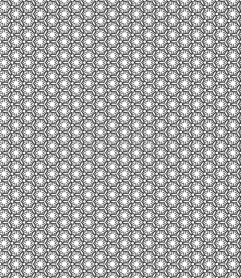 Czarny i biały wzór w minimalisty stylu Nowożytnym płaskim projekcie dla drukować na tkaninie, tkanina, opakowanie, papierowy Bez ilustracja wektor