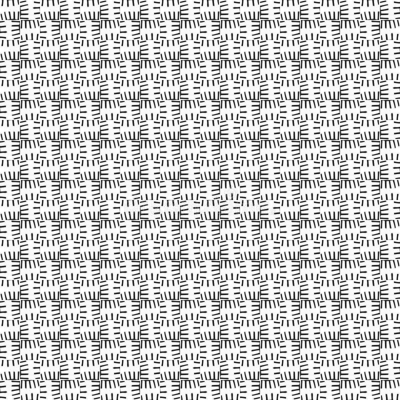 Czarny i biały wzór w minimalisty stylu Nowożytnym płaskim projekcie dla drukować na tkaninie, tkanina, opakowanie, papierowy Bez royalty ilustracja