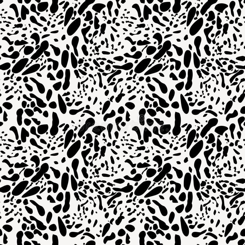 Czarny I Biały Zwierzęcej skóry imitaci Bezszwowy wzór ilustracji