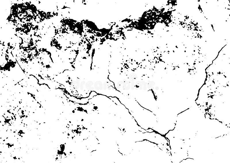 Czarny i bia?y grunge Cierpienie narzuty tekstura Abstrakt powierzchni pył i szorstki brudzimy ściennego tła pojęcie Cierpienia i ilustracja wektor
