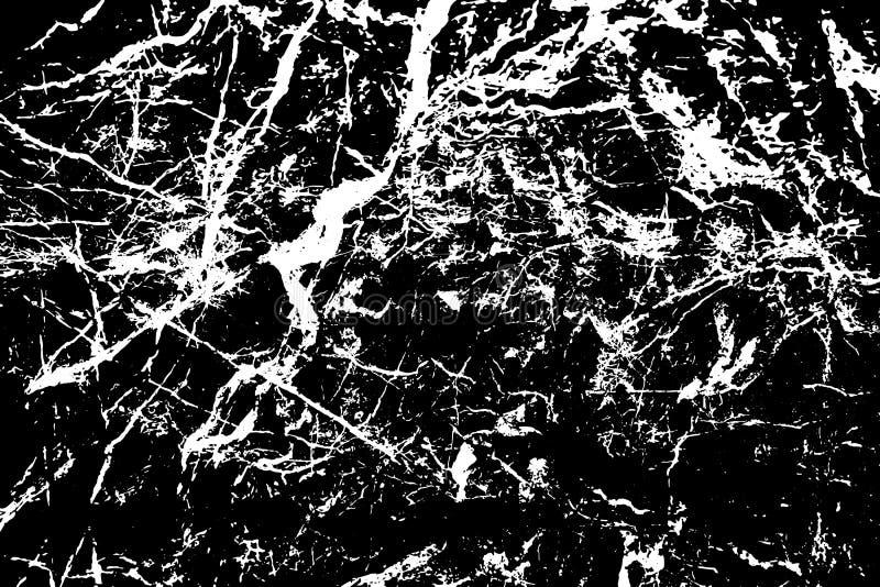 Czarny i bia?y kamienna tekstura Marmur z żyły powierzchni odszukanym tłem Cudacka naturalna tekstura ilustracja wektor