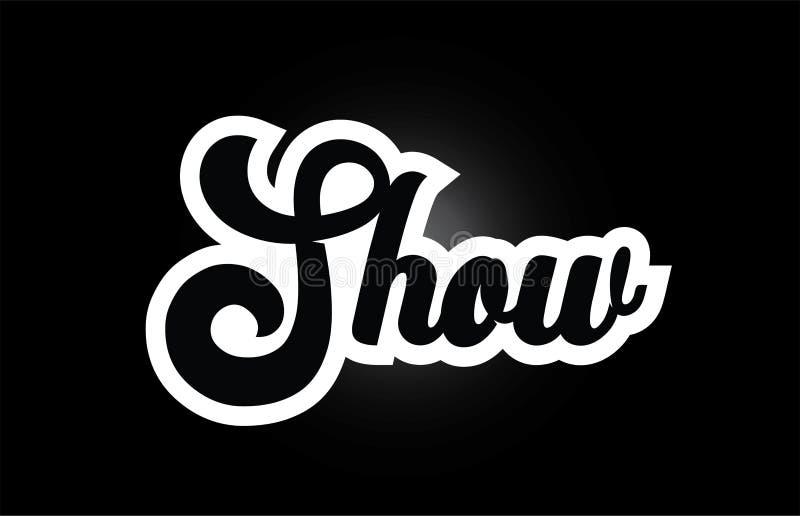 czarny i bia?y przedstawienie r?ki pisa? s?owa tekst dla typografia logo ikony projekta royalty ilustracja