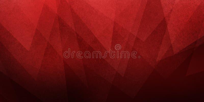 Czarny i czerwony abstrakcjonistyczny tło z trójbok warstwy projektem z teksturą obrazy royalty free