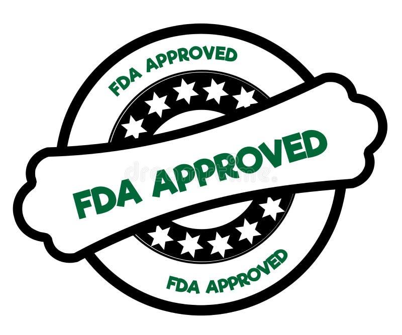 Czarny i zielony FDA ZATWIERDZAJĄCY znaczek royalty ilustracja